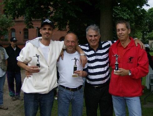 Sidali Yettou, Günter Lünstedt, Latif Barqawi und Michael Schwandner