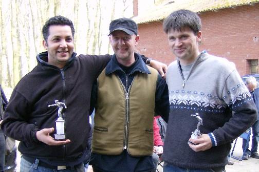 Khalid Lahrichi, Timo Keller und Frank Günther