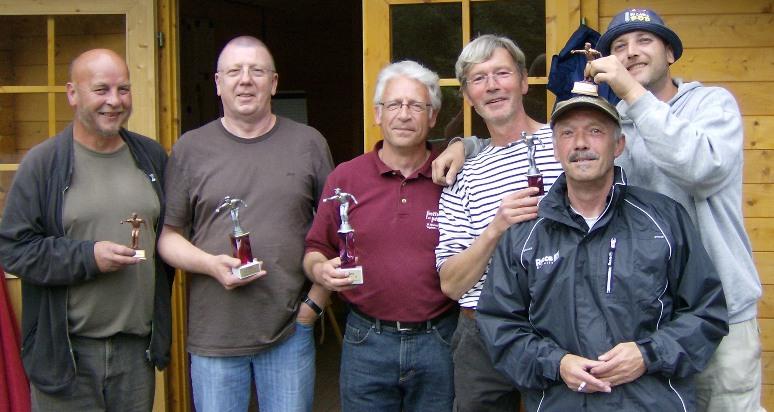 Jogy Nageler, Axel Cornelius, Michael Frantz-Wielstra, Jürgen Hofmann, Günter Lünstedt und Mike Wiemers