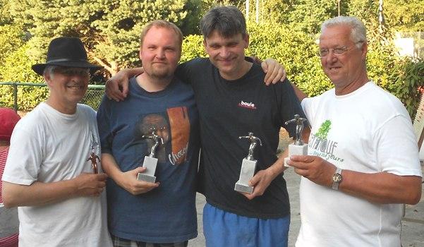 Wolfgang Mützelfeld, Jascha Buchner, Frank Günther und Eckhard Hahme
